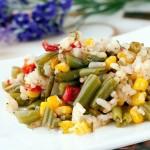 Рис с тушеными овощами