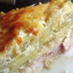 рыбно -картофельная -запеканка
