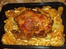 курица - с - картошкой-в-духовке