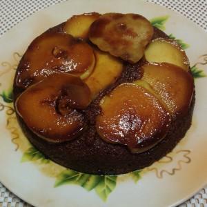 кофейный пирог с грушами