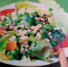Овощной салат с горчицей