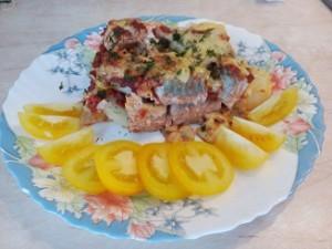 Рыба запеченная в томатном соусе