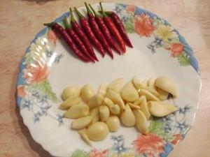 чеснок и перец