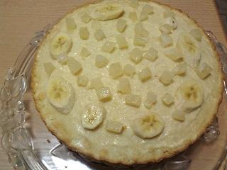 бананы на торте