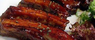 свиные ребрышки в соусе