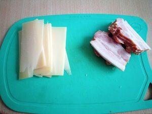 грудинка и сыр