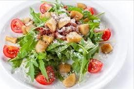зеленый - салат - с - грибами
