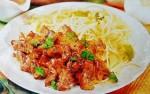 Жареное мясо под соусом