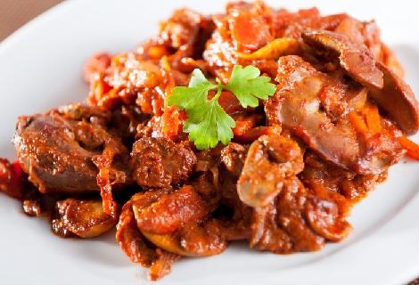 pecen-s-gribamiтушеная печень с грибами