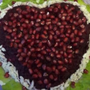 salat granatovoe serdce