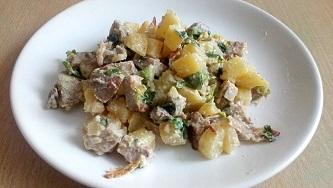 Картофельный салат с индейкой