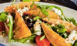 teplyj salat s grushej теплый салат с грушей