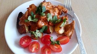 indejka s kartofelem индейка с картофелем