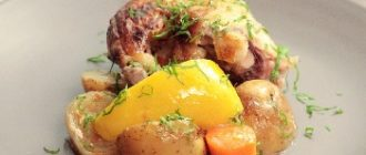 запеченная курочка с картошкой