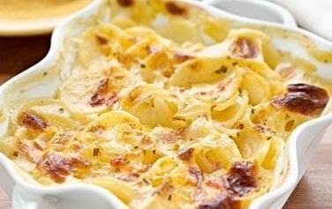 картофельная запеканка с творогом