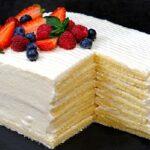 торт молочный