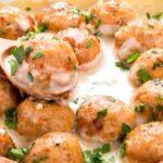куриные тефтельки в сливочном соусе