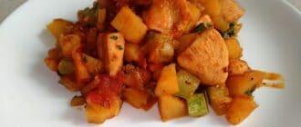 рагу из кабачков и куриного филе