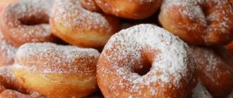 рецепт воздушных пончиков на кефире