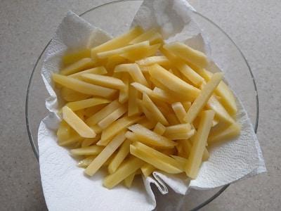 обсушить картофель