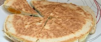 яичница с сыром в лаваше