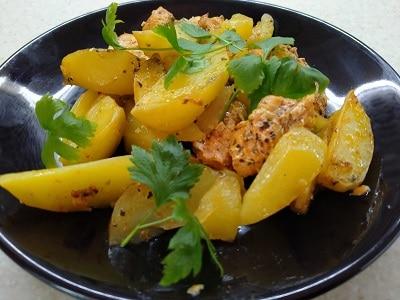 филе индейки с картофелем