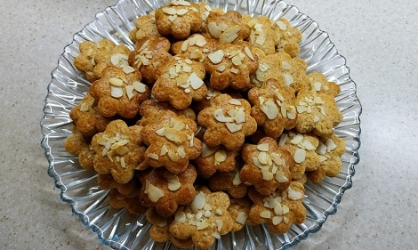 творожные печенья с миндалем