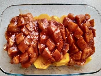 курица на картофель