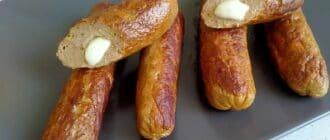 куриные сосиски с сыром