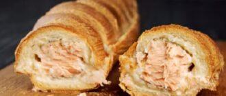 закуска из багета с красной рыбой
