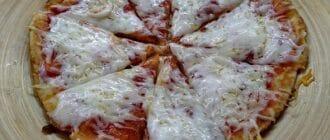 творожная пицца на сковороде