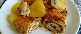 куриные рулеты с картофелем